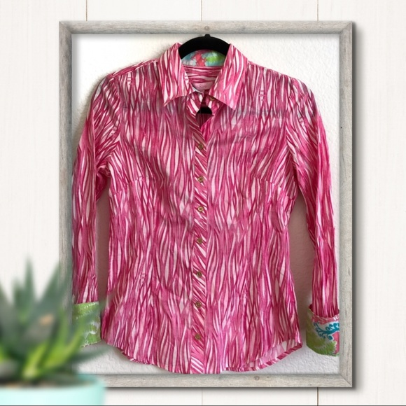 9f0015e4dac1c Lilly Pulitzer Long Sleeve Button Down Top Size 0